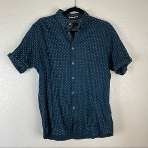 Ted Baker Blue Diamond Button Down Top Size 5